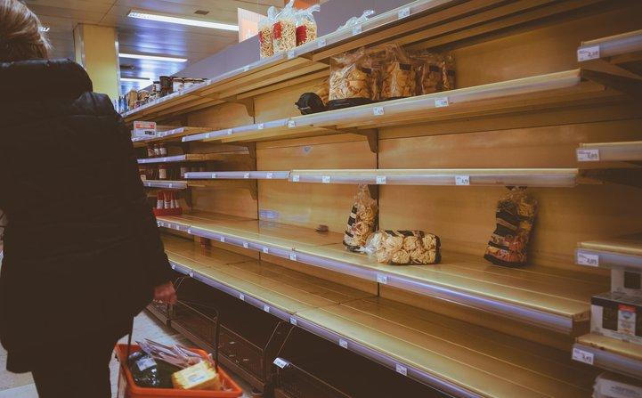 empty shelves at a shop